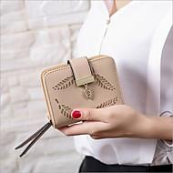 お買い得  小銭入れ-女性用 バッグ PU 小銭入れ ジッパー ピンク / コーヒー / カーキ色