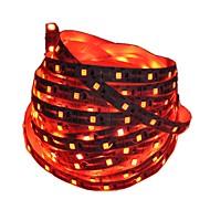 billiga Belysning-1m Flexibla LED-ljusslingor 60 lysdioder 2835 SMD Röd / Blå Klippbar / Dekorativ / Självhäftande Batterier Drivs 1st