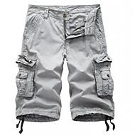 Per uomo Largo Chino / Pantaloncini / Cargo Pants Pantaloni - Tinta unita Grigio scuro