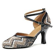 billige Moderne sko-Dame Moderne sko Syntetisk Høye hæler Strå Kubansk hæl Dansesko Blå / Naken