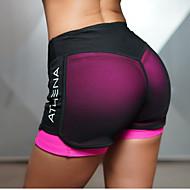 Dame yogashorts - Grøn, Rosa Sport Underdele Sportstøj Åndbarhed, Blødhed Elastisk