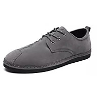 baratos Sapatos Masculinos-Homens Couro de Porco / Couro Ecológico Primavera Conforto Oxfords Preto / Cinzento