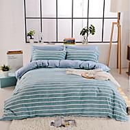 billige Hjemmetekstiler-Sengesett Striper / Foldet Polyester Trykket 4 deler
