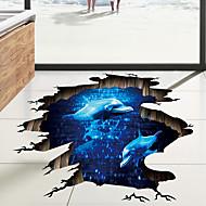 Dekorative Wand Sticker / Bodenaufkleber - 3D Wand Sticker Landschaft / 3D Wohnzimmer / Schlafzimmer / Badezimmer