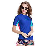 SBART Women's Diving Rash Guard SPF50 UV Sun Protection Quick Dry Tactel Short Sleeve Swimwear Beach Wear Sun Shirt Top Swimming Diving Snorkeling