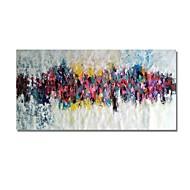 billige Nyheter-Hang malte oljemaleri Håndmalte - Abstrakt Moderne Inkluder indre ramme / Stretched Canvas