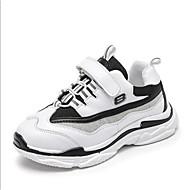 baratos Sapatos de Menino-Para Meninos / Para Meninas Sapatos Couro Ecológico Primavera Conforto Tênis Cadarço para Branco / Preto