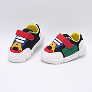 baratos Sapatos de Menino-Para Meninos Sapatos Com Transparência Primavera & Outono Conforto Tênis Velcro para Bebê Branco / Preto