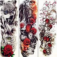3 pcs Los tatuajes temporales Series de Animal / Series de Flor Adhesivo suave / Ecológica / Desechable Artes de cuerpo brazo / Tatuajes temporales estilo calcomanía