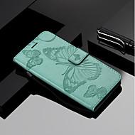 billiga Mobil cases & Skärmskydd-fodral Till Motorola C plus / C Plånbok / Korthållare / med stativ Fodral Fjäril Hårt PU läder för MOTO G6 / Moto G6 Plus / Moto G5s Plus