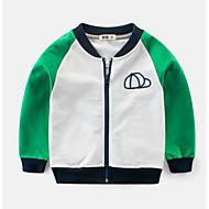 Børn Drenge Basale Trykt mønster / Farveblok Langærmet Bomuld Hættetrøje og sweatshirt Grøn