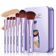 7 stk Make-up pensler Professionel Kosmetik Fiber Fuld Dækning Plastik