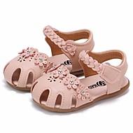 tanie Obuwie dziewczęce-Dla dziewczynek Obuwie PU Lato Wygoda / Buty do nauki chodzenia Sandały na Beżowy / Różowy