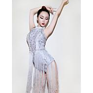 Jazz Leotards Žene Seksi blagdanski kostimi Spandex S resicama / Kristali / Rhinestones Bez rukávů Hula-hopke / Onesie