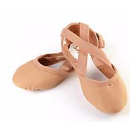 billige Ballettsko-Dame Ballettsko Elastisk stoff Joggesko Flat hæl Kan spesialtilpasses Dansesko Oransje / Rosa
