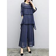 Dame I-byen-tøj / Arbejde Bluse - Ensfarvet Bukse