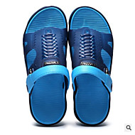 baratos Sapatos Masculinos-Homens PVC Verão Conforto Chinelos e flip-flops Verde / Azul / Khaki