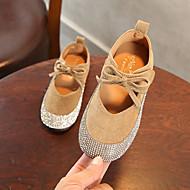baratos Sapatos de Menina-Para Meninas Sapatos Camurça Primavera Verão Conforto / Sapatos para Daminhas de Honra Rasos Caminhada Gliter com Brilho para Bébé Rosa claro / Khaki