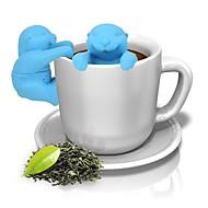 billige Kaffe og te-animal otter silikon infuser te filter kaffebønner filter te verktøy
