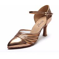 billige Moderne sko-Dame Moderne sko Netting / PU Høye hæler Tykk hæl Dansesko Svart / Brun