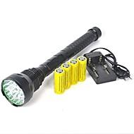 ieftine -Lanterne LED LED 18000 lm 1 cu Baterii Profesional Camping / Cățărare / Speologie