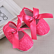 baratos Sapatos de Menina-Para Meninas Sapatos Renda Verão Primeiros Passos Rasos Laço para Bebê Fúcsia / Vermelho / Rosa claro