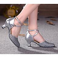 billige Moderne sko-Dame Moderne sko PU Høye hæler Tykk hæl Dansesko Gull / Lilla / Sølv
