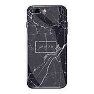 billiga Mobil cases & Skärmskydd-fodral Till Apple iPhone X / iPhone 8 Plus Spegel / Mönster Skal Ord / fras / Marmor Hårt TPU / Härdat glas för iPhone X / iPhone 8 Plus / iPhone 8