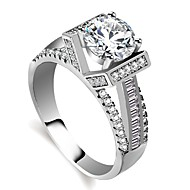 Damen Stilvoll Hohl HALO Ring Verlobungsring Platiert Diamantimitate Kreativ damas Romantisch Modisch Elegant Moderinge Schmuck Silber Für Verlobung Valentinstag 5 / 6 / 7 / 8 / 9