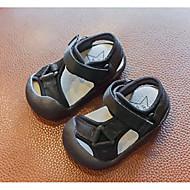baratos Sapatos de Menino-Para Meninos Sapatos Couro Sintético Verão Primeiros Passos Sandálias Velcro para Bebê Preto / Azul