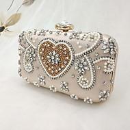 baratos Clutches & Bolsas de Noite-Mulheres Bolsas Cetim Bolsa de Festa Botões / Detalhes em Pérolas Rosa