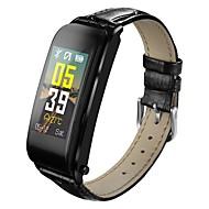 tanie Inteligentne zegarki-Inteligentny zegarek Y6 na iOS / Android Pulsometr / Pomiar ciśnienia krwi / Spalone kalorie / Rejestr ćwiczeń / Śledzenie odległości Krokomierz / Powiadamianie o połączeniu telefonicznym / Budzik