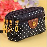 baratos Clutches & Bolsas de Noite-Mulheres Bolsas Poliéster Bolsa de Mão Estampa Marron / Marron Escuro / Vermelho Escuro