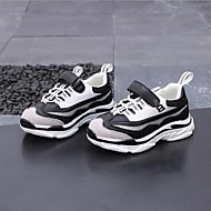 baratos Sapatos de Menino-Para Meninos / Para Meninas Sapatos Couro Sintético / Couro Ecológico Primavera Conforto Tênis Cadarço para Branco / Preto