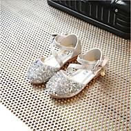 baratos Sapatos de Menina-Para Meninas Sapatos Couro Ecológico Primavera Verão Sapatos para Daminhas de Honra Rasos Laço para Infantil Dourado / Prateado / Rosa claro
