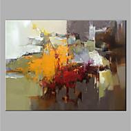 olcso -Hang festett olajfestmény Kézzel festett - Absztrakt Vintage Anélkül, belső keret / Hengerelt vászon