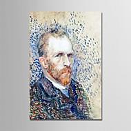 billiga Människomålningar-Hang målad oljemålning HANDMÅLAD - Känd / Människor Moderna Utan innerram / Valsad duk