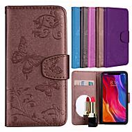 billiga Mobil cases & Skärmskydd-fodral Till Xiaomi Redmi S2 / Mi 8 Plånbok / Korthållare / med stativ Fodral Fjäril / Blomma Hårt PU läder för Redmi Note 5A / Xiaomi Redmi Note 4 / Xiaomi Redmi 5 / Xiaomi Redmi 4A