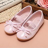 お買い得  ベビー用靴-女の子 靴 PUレザー 春 & 秋 バレリーナ フラット リボン のために 幼児 レッド / ピンク