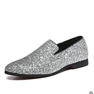 baratos Sapatos Masculinos-Homens Sapatos formais Pele Verão Conforto Mocassins e Slip-Ons Dourado / Preto / Prata
