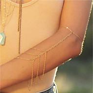 שרשרת זרוע יצירתי נשים, פשוט, טרנדי, אופנתי בגדי ריקוד נשים זהב תכשיטי גוף עבור רחוב / חגים