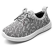 baratos Sapatos de Menino-Para Meninos Sapatos Tricô / Sintéticos Primavera & Outono / Verão Conforto Tênis Cadarço para Infantil Preto / Cinzento Claro