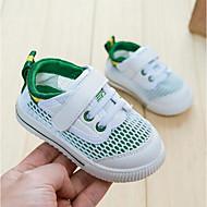 baratos Sapatos de Menino-Para Meninos / Para Meninas Sapatos Couro Sintético Verão Primeiros Passos Tênis Velcro para Bébé Branco / Verde / Branco / azul