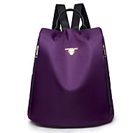 cheap High School Bags-Women's Bags Nylon Backpack Solid Black / Gray / Purple
