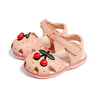 tanie Obuwie dziewczęce-Dla dziewczynek Obuwie PU Wiosna lato Buty do nauki chodzenia Sandały Koraliki na Brzdąc White / Różowy / Blue+Pink