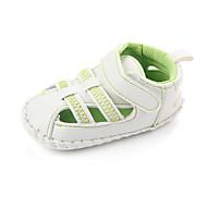 baratos Sapatos de Menina-Para Meninas Sapatos Couro Ecológico Verão Primeiros Passos Sandálias Velcro para Bebê Verde / Azul / Rosa claro
