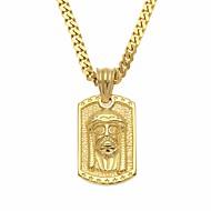 Erkek Klasik Şık Uçlu Kolyeler uzun Kolye Paslanmaz Çelik kafa inanç Basit Casual / Sportif Hiphop Havalı Altın Gümüş 70 cm Kolyeler Mücevher 1pc Uyumluluk Günlük Tatil