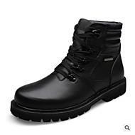 baratos Sapatos Masculinos-Homens Sapatos Confortáveis Microfibra Inverno Botas Botas Curtas / Ankle Preto / Ao ar livre