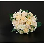 billiga Brudbuketter-Brudbuketter Bukett / Dekorationer Bröllop / Bröllopsfest Torkad blomma / Spets / Blomknopp 11-20 cm