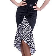 ラテンダンス ボトムズ 女性用 訓練 エラステイン ドレープ ナチュラルウエスト スカート